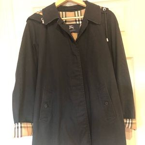 Burberry black car coat